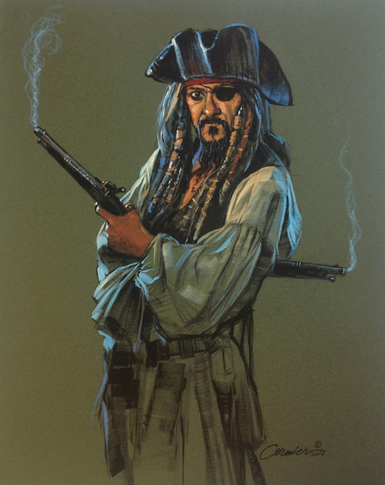 Pirate with pistols wil cormier fine art gallery for Fine art gallery online
