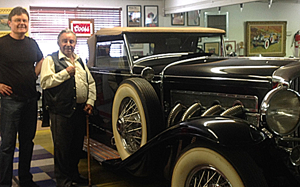Artist and Mr Maloof With 1931 Duesenbergcrop600x375
